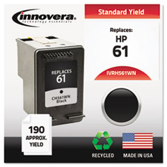 IVRH561WN - Innovera Remanufactured CH561WN (61) Ink, 200 Page-Yield, Black