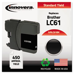 IVRLC61BK - Innovera Remanufactured LC61BK Ink, 450  Page-Yield, Black