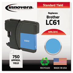 IVRLC61C - Innovera Remanufactured LC61C Ink, 325 Page-Yield, Cyan