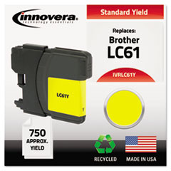 IVRLC61Y - Innovera Remanufactured LC61Y Ink, 325 Page-Yield, Yellow