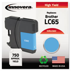 IVRLC65C - Innovera Remanufactured LC65C Ink, 750 Page-Yield, Cyan