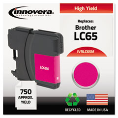 IVRLC65M - Innovera Remanufactured LC65M  Ink, 750 Page-Yield, Magenta