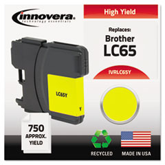 IVRLC65Y - Innovera Remanufactured LC65Y  Ink, 750 Page-Yield, Yellow