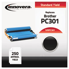 IVRPC301 - Innovera PC301 Compatible, Remanufactured, PC301 Thermal Transfer, 250 Page-Yield, Black