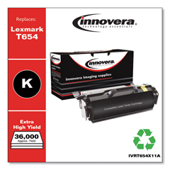 IVRT654X11A - Innovera Remanufactured T654X21A (T654DN) Toner, 36000 Yield, Black