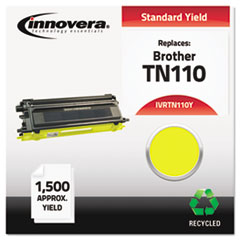 IVRTN110Y - Innovera Remanufactured TN110Y Toner, 1500 Page-Yield, Yellow