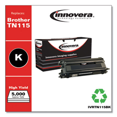 IVRTN115BK - Innovera Remanufactured TN115BK Toner, 5000 Yield, Black