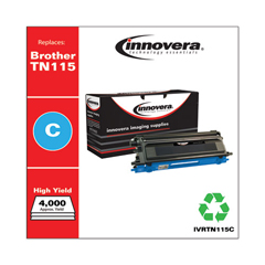 IVRTN115C - Innovera Remanufactured TN115C Toner, 4000 Yield, Cyan