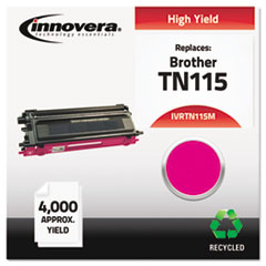 IVRTN115M - Innovera Remanufactured TN115M Toner, 4000 Yield, Magenta