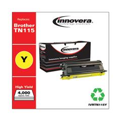 IVRTN115Y - Innovera Remanufactured TN115Y Toner, 4000 Yield, Yellow
