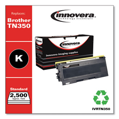 IVRTN350 - Innovera Remanufactured TN350 Laser Toner, 2500 Page-Yield, Black