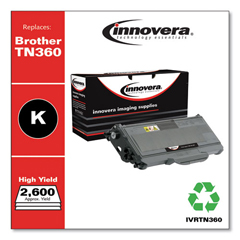 IVRTN360 - Innovera Remanufactured TN360 Laser Toner, 2600 Page-Yield, Black