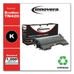 IVRTN420 - Innovera Remanufactured TN420 Laser Toner, 1200 Page-Yield, Black