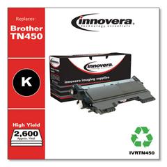 IVRTN450 - Innovera Remanufactured TN450 Laser Toner, 2600 Page-Yield, Black
