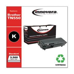 IVRTN550 - Innovera Remanufactured TN550 Laser Toner, 3500 Page-Yield, Black