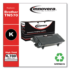 IVRTN570 - Innovera Remanufactured TN570 Laser Toner, 6700 Page-Yield, Black