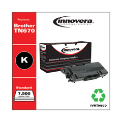 IVRTN670 - Innovera Remanufactured TN670 Laser Toner, 7500 Page-Yield, Black