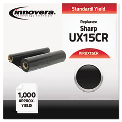 IVRUX15CR - Innovera UX15CR Compatible, Remanufactured, UX15CR Thermal Transfer, 1000 Yield, Black