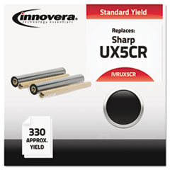 IVRUX5CR - Innovera UX5CR Compatible, Remanufactured, UX5CR Thermal Transfer, 330 Yield, Black
