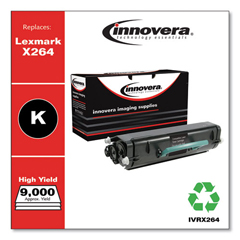 IVRX264 - Innovera Remanufactured X264H11G Toner, 9000 Page-Yield, Black