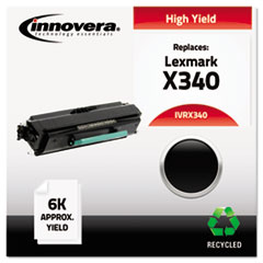 IVRX340 - Innovera Remanufactured X340 High-Yield Toner, 6000 Page-Yield, Black