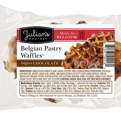 JUL00292 - Julian's RecipeBelgian Pastry Waffles™, Belgian Chocolate - 24/Case