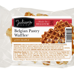 JUL00217 - Julian's RecipeBelgian Pastry Waffles™, Maple - 72/Case