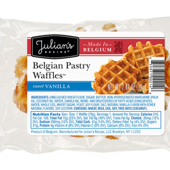 JUL00214 - Julian's RecipeBelgian Pastry Waffles™, Vanilla  - 72/Case