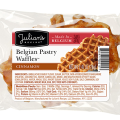 JUL00215 - Julian's RecipeBelgian Pastry Waffles™, Cinnamon - 72/Case