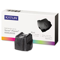 KAT37986 - Katun KAT37986 Phaser 8500 Compatible, 108R00668 Solid Ink, 3000 Yld, 3/Box, Black