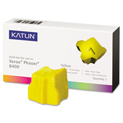 KAT38706 - Katun KAT38706 Phaser 8400 Compatible, 108R00607 Solid Ink, 3400 Yld, 3/Box, Yellow