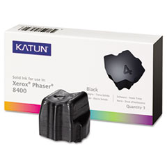 KAT38707 - Katun KAT38707 Phaser 8400 Compatible, 108R00604 Solid Ink, 3400 Yld, 3/Box, Black