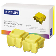 KAT39399 - Katun KAT39399 ColorQube 8570 Compatible, 108R00928 Solid Ink, 4400 Yld, 2/Box, Yellow