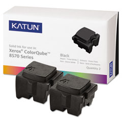 KAT39401 - Katun KAT39401 ColorQube 8570 Compatible, 108R00929 Solid Ink, 4300 Yld, 2/Box, Black
