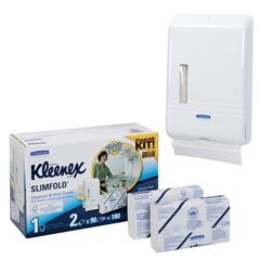 KLEENEX® SLIMFOLD™ Hand Towel Starter Kit - White