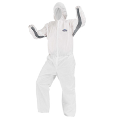 KCC46145 - KLEENGUARD A30 Elastic-Back and Cuff Hooded Coveralls