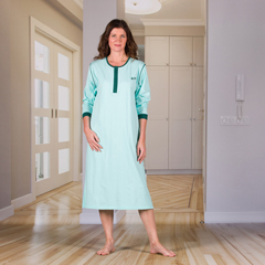 KCK1402500L - KCK Industries - 4Care™ Unisex Nightshirt with an Extra Fold in the Back