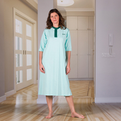 KCK1413500L - KCK Industries - 4Care™ Unisex Nightshirt with an Open Back (Hospital Gown)