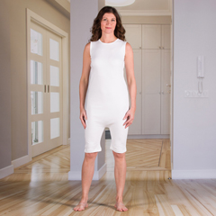 KCK2030100L - KCK Industries - 4Care™ Unisex Bodysuit with a Zipper-Back and Short Legs