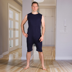 KCK2030281M - KCK Industries - 4Care™ Unisex Bodysuit with a Zipper-Back and Short Legs
