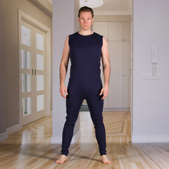 KCK2031281XS - KCK Industries - 4Care™ Unisex Bodysuit with Zippered-Back and Long Legs