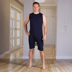 KCK2050281XL - KCK Industries - 4Care™ Unisex Bodysuit with Short Legs and a Zippered-Back and Crotch