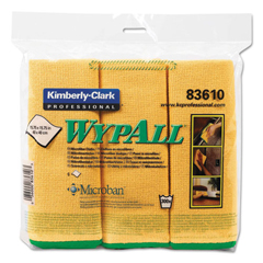 KIM83610 - Kimberly Clark Professional WYPALL* Microfiber Cloths w/Microban Protection - General Purpose