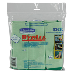 KIM83630 - Kimberly Clark Professional WYPALL* Microfiber Cloths w/Microban Protection - Glass & Mirrors