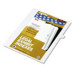 KLF80010 - Kleer-Fax® 80000 Series Alpha Side Tab Legal Index Divider