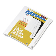 KLF80025 - Kleer-Fax® 80000 Series Alpha Side Tab Legal Index Divider