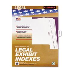 KLF81005 - Kleer-Fax® 80000 Series Exhibit Alpha Side Tab Legal Index Divider