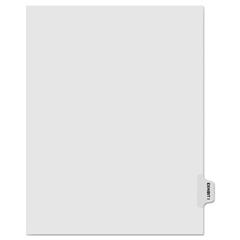 KLF81009 - Kleer-Fax® 80000 Series Exhibit Alpha Side Tab Legal Index Divider