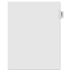 KLF81012 - Kleer-Fax® 80000 Series Exhibit Alpha Side Tab Legal Index Divider
