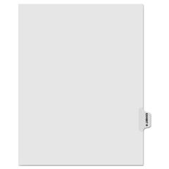 KLF81018 - Kleer-Fax® 80000 Series Exhibit Alpha Side Tab Legal Index Divider
